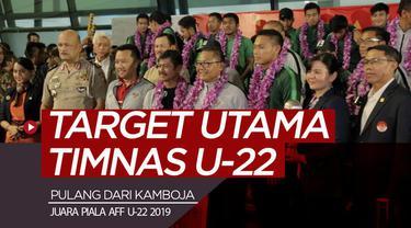 Berita video kepulangan Timnas Indonesia U-22 dari Kamboja dengan trofi Piala AFF 2019 dan semangat mereka kini untuk target yang sesungguhnya.