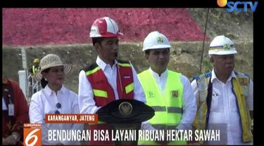 Presiden Jokowi resmikan Bendungan Gondang di Karanganyar, Jawa Tengah.