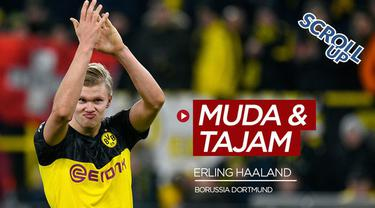 Berita video Scroll Up kali ini membahas pemain baru Borussia Dortmund, Erling Haaland yang menjadi man of the match setelah membobol gawang PSG dengan skor 2-1.https://www.bola.com/dashboard/articles/create?type=VideoGallery#