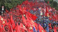 Ilustrasi Tuntutuan Hari Buruh Internasional (May Day)
