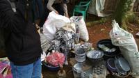 Polisi Tangerang Gerebek Pabrik Petasan di Tengah Sawah