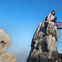 Dian Indah Carolina, wanita muda pendaki puncak gunung tertinggi di dunia. (Foto: Bambang E. Ros, DI: M. Iqbal Nurfajri/Bintang.com)
