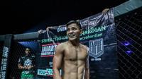 Atlet MMA Stefer Rahardian memberi kesan terhadap Jakarta yang merayakan ulang tahun ke-492. (Dok ONE Championship)