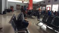 Ruang tunggu Bandara Wamena. (Liputan6.com / Katharina Janur)