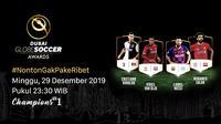 Saksikan Live Streaming Globe Soccer Awards 2019 Hanya Di Vidio. sumberfoto: Vidio