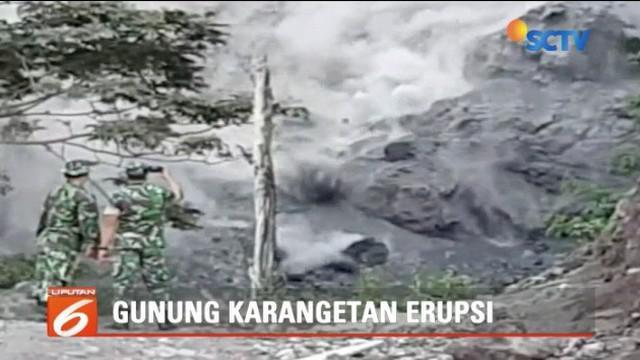 Gunung Karangetang Erupsi, warga Desa Batu Bulan di Sulawesi Selatan dievakuasi.