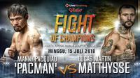 Infografis  Manny Pacman Pacquiao Vs Lucas Martin Matthysse (Liputan6.com/Abdillah)