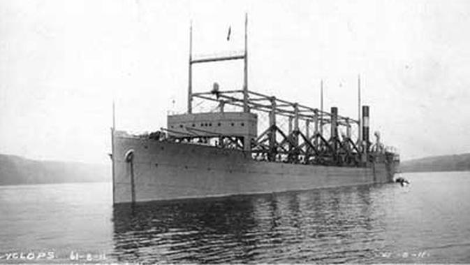 Kapal USS Cyclops hilang misterius di Segitiga Bermuda (Public Domain)
