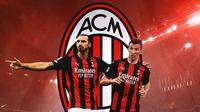 AC Milan - Zlatan Ibrahimovic dan Mario Mandzukic (Bola.com/Adreanus Titus)