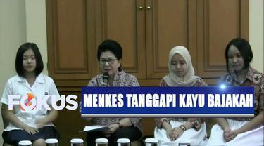 Menkes mengapresiasi temuan tiga pelajar asal Palangkaraya, Kalimantan Tengah, tentang manfaat akar kayu bajakah sebagai obat kanker payudara.