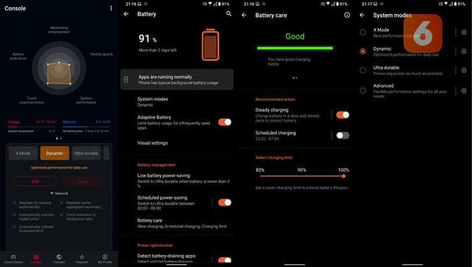 Fitur pintar di baterai ROG Phone 5. (Liputan6.com/ Yuslianson)