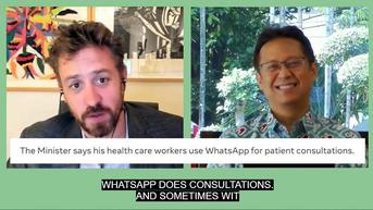 Menkes: Indonesia Manfaatkan WhatsApp untuk Konsultasi Covid-19