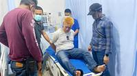 Pelaku jambret di Pekanbaru yang ditembak polisi karena melawan saat ditangkap. (Liputan6.com/M Syukur)