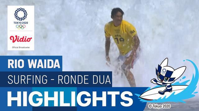 Berita video aksi-aksi terbaik dari atlet selancar Indonesia, Rio Waida, pada babak kedua di Olimpiade Tokyo 2020, Minggu (25/7/2021).