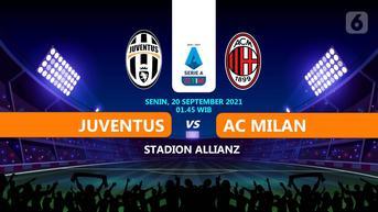 Baru Dimulai, Live Streaming Liga Italia Juventus vs AC Milan 20 September 2021 di Vidio