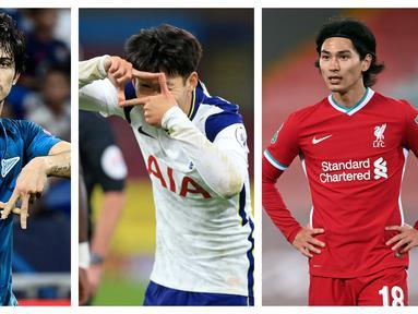 Tidak banyak pesepakbola Asia yang bermain di klub Eropa dan mampu berprestasi maksimal di pentas kompetisi antar-klub Eropa. Keterbatasan fisik dan bahasa menjadi sebagian alasannya. Berikut 6 pemain Asia yang mampu berprestasi dengan gol-gol yang dicetaknya.  (Kolase Foto AFP)