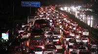 Hujan deras pada Senin 29 Agustus 2016 menyebabkan kemacetan luar biasa di Delhi, India. (Sumber NDTV)
