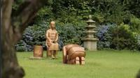 Patung di Korea Botanic Garden yang dipermasalahkan pemerintah Jepang. (dok. screenhsot video Twitter @SCMPNews)