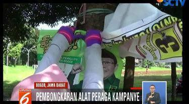 Pembongkaran dilakukan karena per 14 April Indonesia sudah memasuki masa tenang dari hiruk pikuk kampanye.
