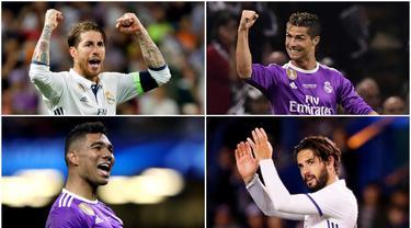 UEFA memilih 18 pemain untuk mengisi skuat terbaik Liga Champions 2016-2017.  Berikut delapan pemain terbaik yang berasal dari Real Madrid.