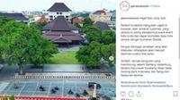 Unggahan foto koridor Jensud depan Balai Kota Solo di akun Instagram pariwisatasolo. (Instagram)