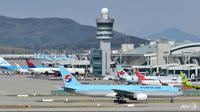Pesawat udara Korean Airlines. (Source: AFP/Jung Yeon-Je)
