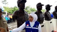 Mensos resmikan patung anggota Tagana yang gugur saat erupsi Merapi 2010 (Yanuar H/Liputan6.com)