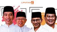 Banner Jokowi Vs Prabowo (Liputan6.com/Triyasni)