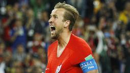 2. Harry Kane (Inggris) - Kapten The Three Lions ini memuncaki daftar pencetak gol terbanyak di Piala Dunia 2018 dengan enam gol. Pemain berusia 24 tahun itu berpeluang meraih Ballon d'Or jika berhasil menjuarai Piala Dunia. (AP/Victor R. Caivano)