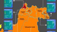 Peta Sebaran Covid-19 Di Banten (Senin,16/11/2020). (Grafik Dinkes Banten)