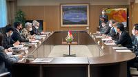Pertemuan Dubes RI untuk Jepang, Heri Akhmadi dengan Gubernur Kumamoto, Kabashima Ikou. Foto KBRI Tokyo.