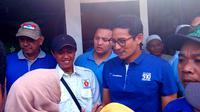 Sandiaga Uno dalam sebuah kampanye di Malang, Jawa Timur (Liputan6.com/Zainul Arifin)