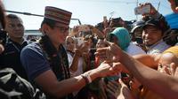 Cawapres Sandiaga Uno mengunjungi Pasar Wae Kesambi, Labuan Bajo, NTT. (foto: Tim BPN Prabowo-Sandiaga)