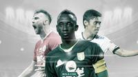 Marko Simic, Makan Konate dan Fadil Sausu. (Bola.com/Dody Iryawan)