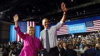 Obama mendukung pencapresan Hillary dengan tampil dalam kampanye di North Carolina (cbc)