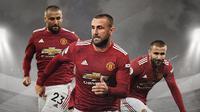 Pemain Manchester United: Luke Shaw. (Bola.com/Dody Iryawan)