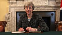 PM Inggris Theresa May  (Christopher Furlong/Pool/AFP)