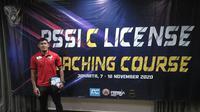 Kiper PSIS Semarang, Joko Ribowo, ketika mengikuti kursus kepelatihan C-AFC di Jakarta belum lama ini. (Instagram Joko Ribowo)