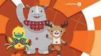 Banner 10 Negara Peraih Medali Terbanyak Asian Games 2018. (Liputan6.com/Triyasni)