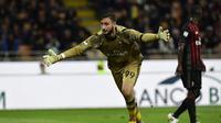 Kiper AC Milan, Gianluigi Donnarumma menjadi incaran banyak klub top Eropa saat ini. (MIGUEL MEDINA / AFP)