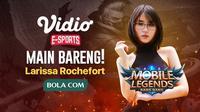 Larissa Rochefort mengajak Sahabat Bola.com berpartisipasi dalam program Main bareng Yuk di Vidio.com.