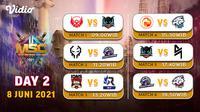 Live Streaming Pertandingan MSC 2021 di Vidio, Selasa 8 Juni 2021. (Sumber : dok. vidio.com)