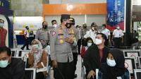 Korlantas Polri melakukan pengecekan kesiapan pengamanan libur Natal dan Tahun Baru 2021 di Stasiun Gambir, Jakarta Pusat. (Foto: dokumentasi Korlantas)