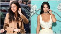Meghan Markle dan Kim Kardashian punya wajah sempurna menurut perhitungan Yunani kuno. (dok. Instagram @meghanmarkle_official Dimitrios Kambouris / AFP)