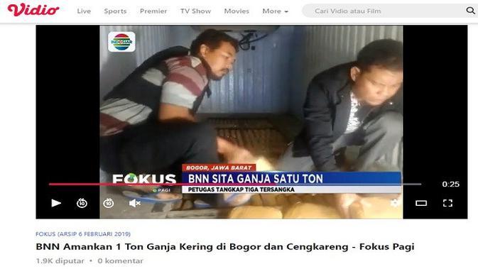 Gambar Tangkapan Layar Video dari Situs vidio.com