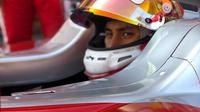 Pembalap Prema Racing, Sean Gelael, merebut empat poin setelah finis keenam pada Sprint Race F2 GP Spanyol di Sirkuit Catalunya, Barcelona, Minggu (13/5/2018). (dok. Jagonya Ayam)