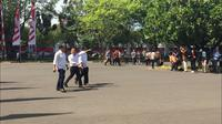Pratikno, Nico Harjanto dan Fadjroel Rachman Datang ke Istana Bersama-sama (Merdeka/Titin Supriatin)