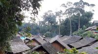 Perkampungan Suku Baduy yang tak rusak sedikitpun saat gempa Banten menerjang. Foto: (Yandhi Deslatama/Liputan6.com)