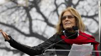 Aktivis feminis di AS, Gloria Steinem dalam aksi Women's March usai pelantikan Donald Trump. (AP)