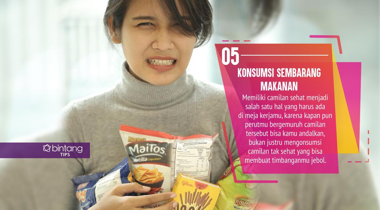 Kebiasaan yang sering kamu lakukan di kantor ini ternyata bisa bikin gendut. (Foto: Daniel Kampua, Digital Imaging: Nurman Abdul Hakim/Bintang.com)
